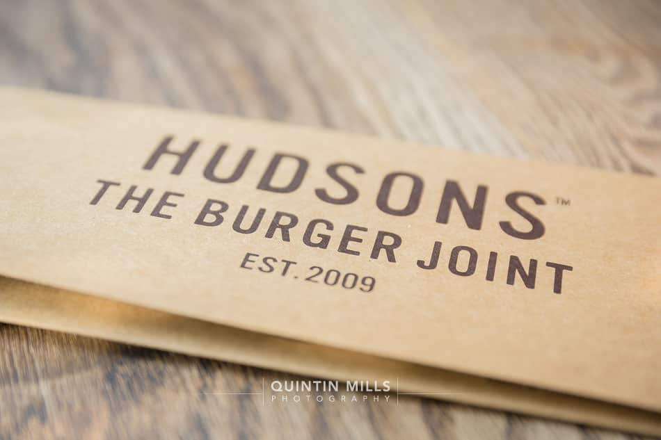 hudsons burger joint restaurant interiors and food photography