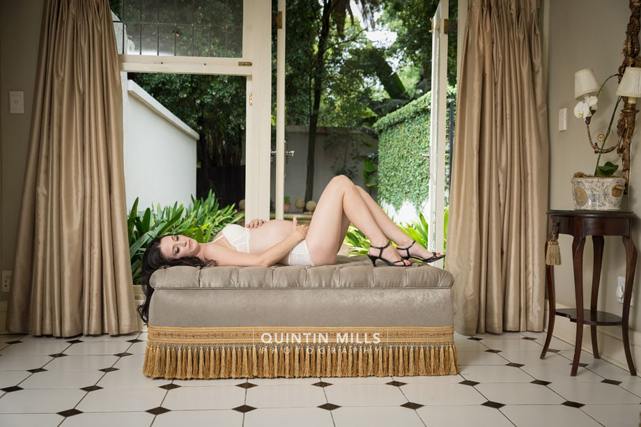 Maternity Boudoir photography by Quintin Mills