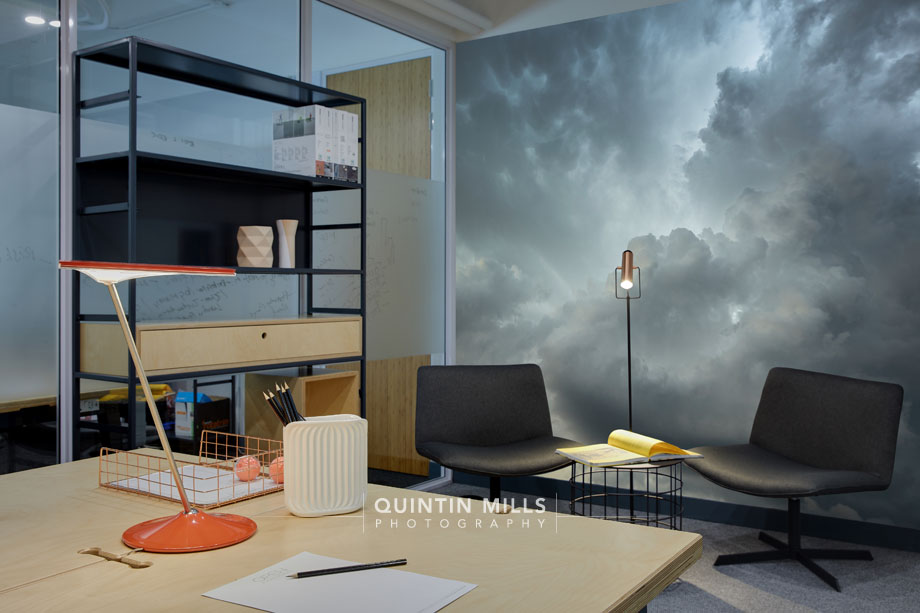 Cloudscape feature walls by Quintin Mills